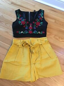 Size XS-S shorts and top new, no tags