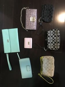 kate spade and coach wallets for sale