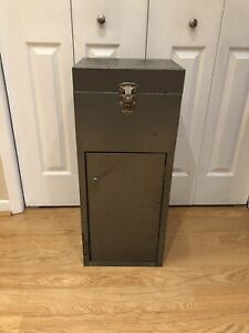 Vintage Metal Locker with Two Compartments