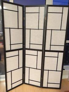 3 panel room divider / folding screen