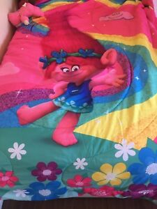 Twin Troll Bedding Set (Comforter, Sheets, and Pillowcase)