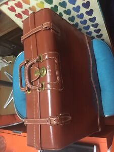 Vintage All Leather Large Suitcase