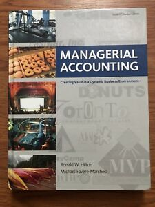 $60 SMU TEXTBOOK MANAGERIAL ACCOUNTING