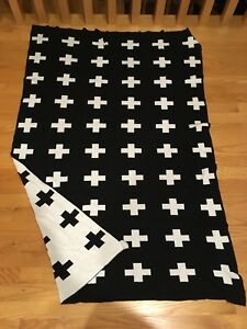 Modern b&w kids throw blanket-Etsy- 20.00