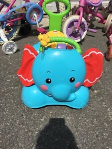 Fisher-Price bounce, sit and stride elephant