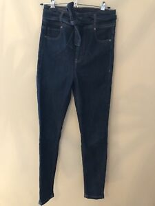 Ultra high waisted jeans (from dynamite) with tie belt