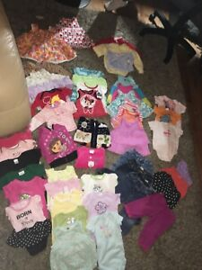 3-6 and 6-12 month girl lot