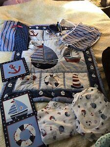 Nautical crib bedding set