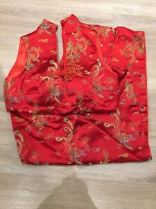 Chinese dress and shoes size 6, small, wedding