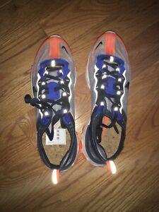 Nike React Element 87 Blue Orange Size 10 DS