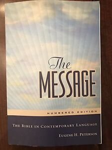 Message Bible, Quest Study Guide and Faith Books