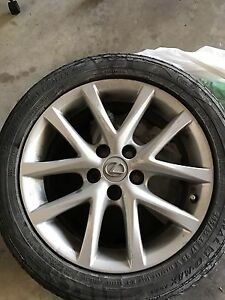 4 RIMS and TIRES- 2011 LEXUS IS250