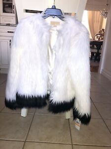 Michael Kors Black and White Faux Fur jacket worth $200