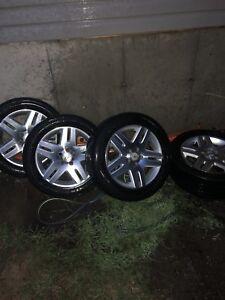 """Mags 17"""" 5x115 avec pneus"""