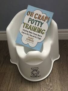Oh Crap Potty Training book and Baby Bjorn potty