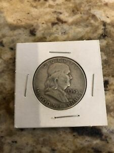 Coin 1953 Benjamin Franklin 50 cent piece