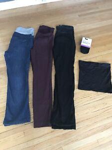 Pantalon medium maternité+ bandeau et collant neuf!!