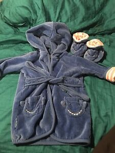 Infant housecoats with slippers