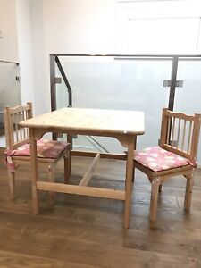 Kids Wooden Table and Chair Set