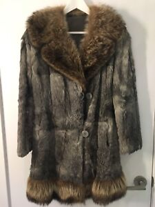 Women's Vintage rabbit/Fox Fur Coat