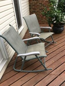 Rocking lawn chairs (2x)