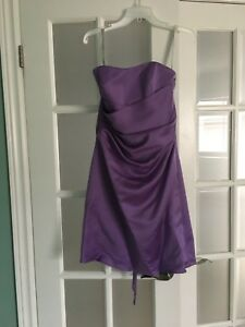 Lilac Alfred Angelo bridesmaid dress
