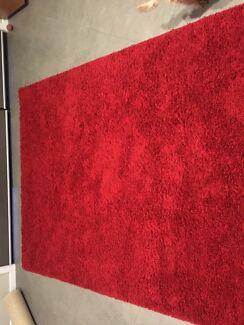 Red Shag Rug 200x290cm