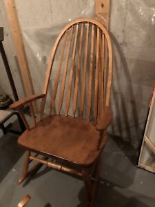 3 Solid Birch Wood Rocking Chairs
