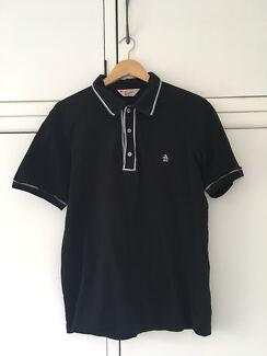 Men's black polo shirt - size large - Penguin brand