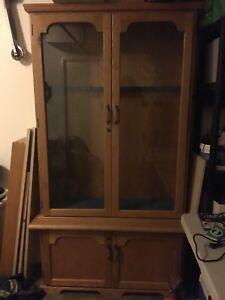 oak gun display cabinet