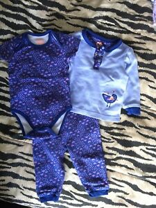 3 items set: onesie, shirt, legging