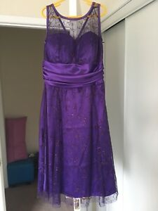 Purple knee length party dress (prom/grad/parties)