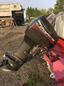 Outboard 50hp boat motor with controls