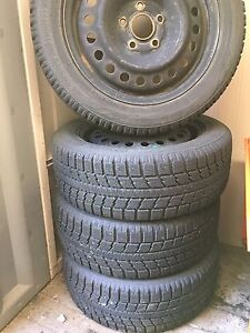 Winter tires 205/55R16 on rims for Honda Civic Si