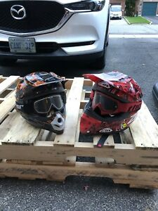 Youth MX helmets and goggles
