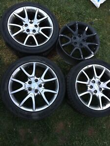 Dodge Dart Wheel Rims and Tires 225/45/R17 with TPMS sensors
