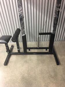 Heavy duty lat pulldown and dumbbell rack