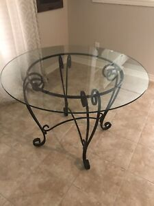 Rod Iron Kitchen/Dining Table