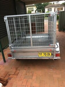 Trailers with cages for hire 6x4/ 7x4/8x5