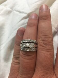 Wedding band set for sale ( 3 rings)