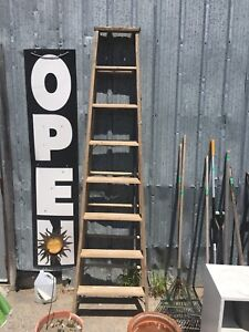 Solid Wood Vintage Ladder