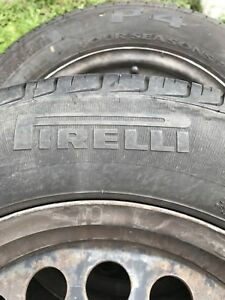 Pirelli All Season P4 Tires on Rim - 195/65/R15