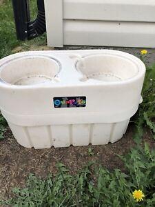 Various food storage bins