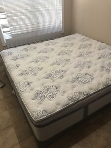 King size Serta Mattress with 2 bed boxes excellent condition