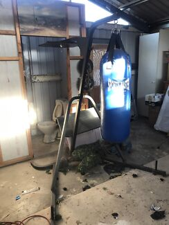 Punching bag on stand with speed bag board only plus exercise walker