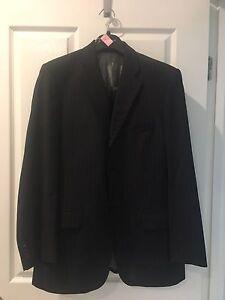 Menswear Black Pinstriped Men's suit size 32 Varsity Lakes Gold Coast South Preview