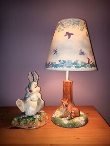 Rare Bambi Hand Painted Porcelain Lamp/Book End