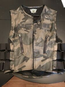 Icon Camo Leather Motorcycle vest