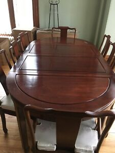 Rosewood Dining room table/ China Cabinet