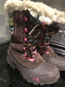 Used girls northface boots